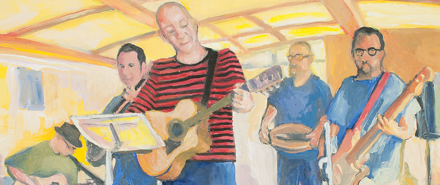 Allotment Cambridge Folk Band Al Hudlestone Painting