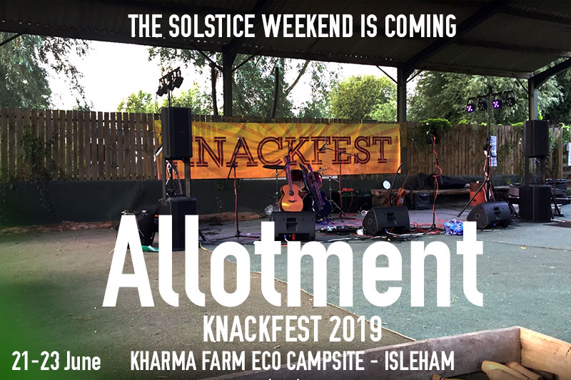 Allotment at Kharma Farm Eco Campsite - June 2019